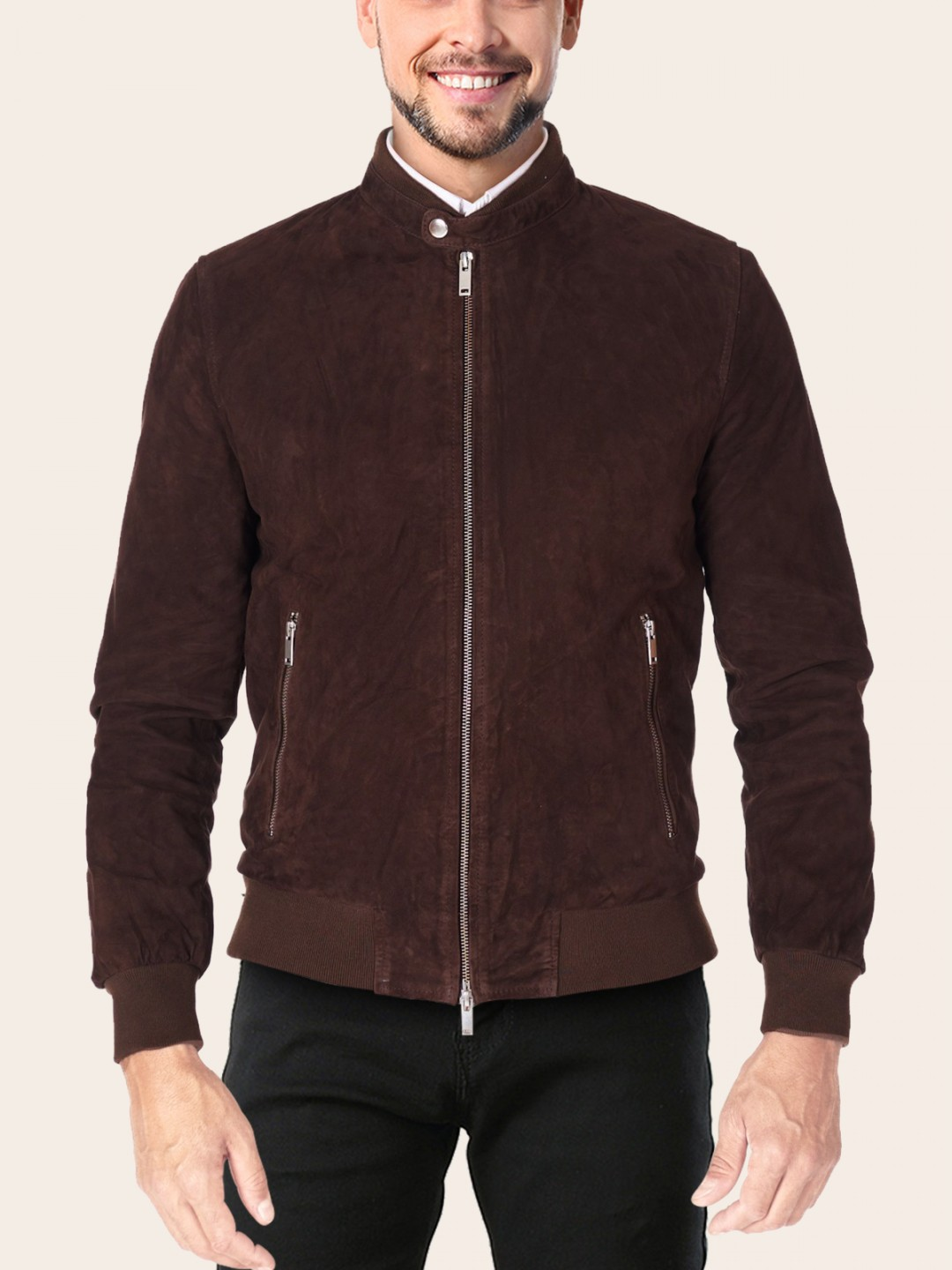 Chocolate Brown Leather Jacket - Samish Leather