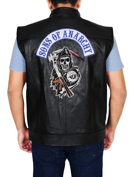 Sons of Anarchy Charlie Hunnam Black leather Vest