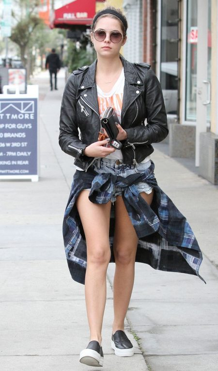 Ashley Benson Black Leather Jacket