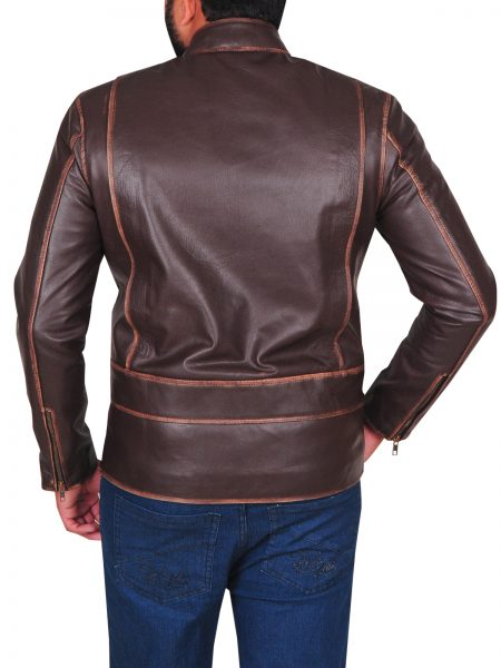 GARRETT HEDLUND TRON LEGACY MOVIE LEATHER JACKET