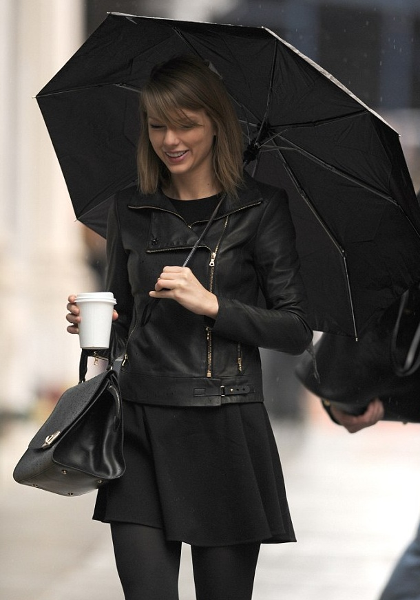 Taylor Swift New York Black Leather Jacket