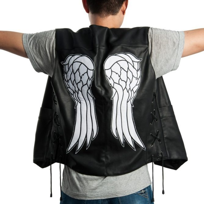 The Walking Dead Angel Wings Leather Vest