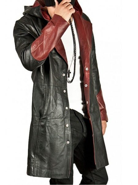 Devil May Cry Dante Leather Hoodie Coat