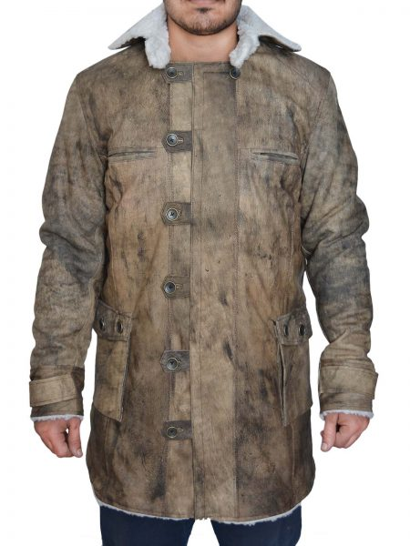Movie The Dark Knight Rises Bane Brown leather Coat