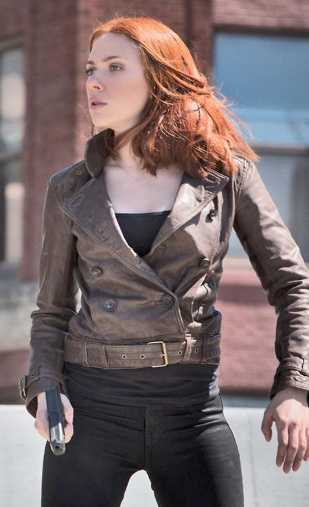 Captain America Chic Black Widow Brown Jacket