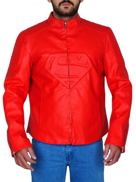 Men Superman Red Jacket