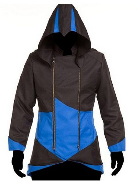 Black and Blue Assassin's Creed Hoodie Jacket