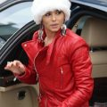 Santa Claus Inspired Cheryl Cole Red Jacket