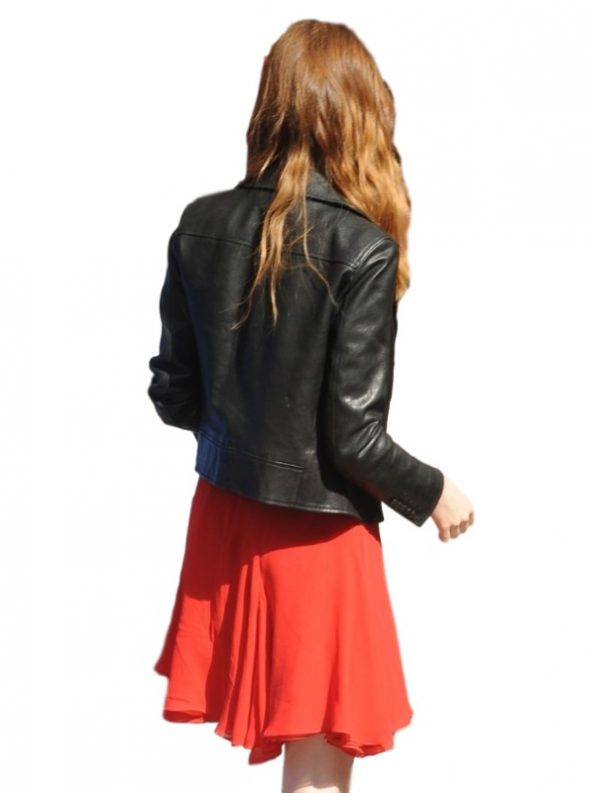 Stylish Emma Stone Leather Jacket