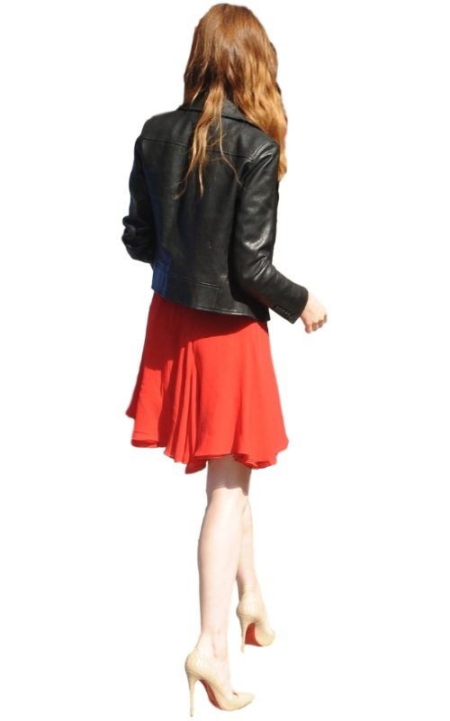 Stylish Emma Stone leather Leather Jacket