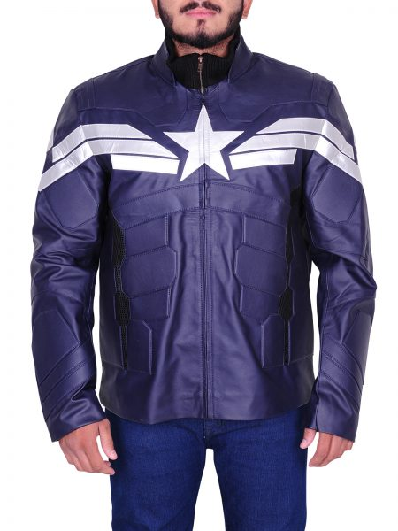 The Winter Soldier Chris Evans Blue Jacket
