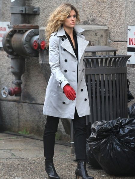 Gotham Camren Bicondova Trench Coat