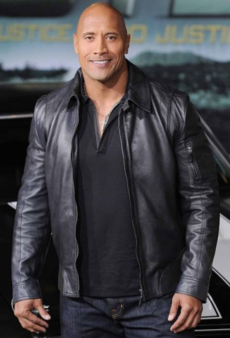 2010 Movie Faster The Rock Black Jacket