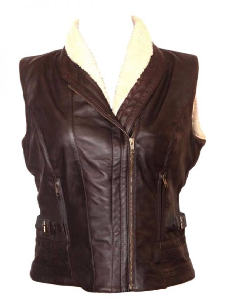 The Walking Dead Andrea Harrison fur leather Vest