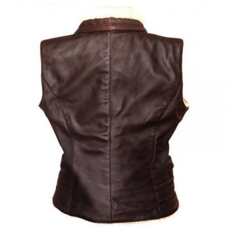 Walking Dead Andrea Harrison fur leather Vest