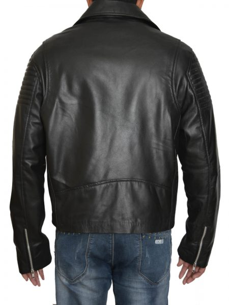 Purchase Fast And Furious 7 Premiere Tyrese Gibson Black Leather Jacket