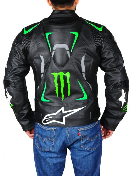 Buy Alpinestars Monster Energy Motorbiker leather Jacket