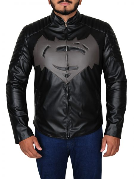 Superman Clark Kent Black leather Jacket