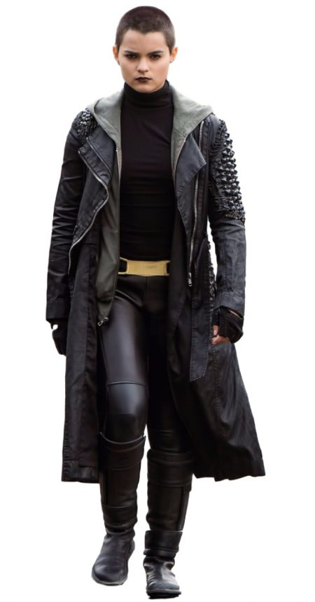 DeadPool Brianna Hildebrand leather Coat