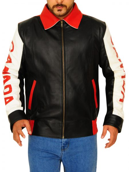 Bomber Style Canadian Flag Design Jacket