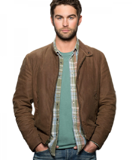 Chace Crawford Blood and Oil Billy Brown Jacket