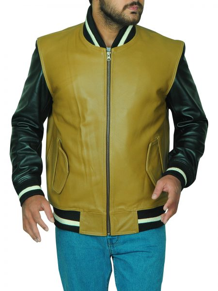 Men Varsity Leather Jacket