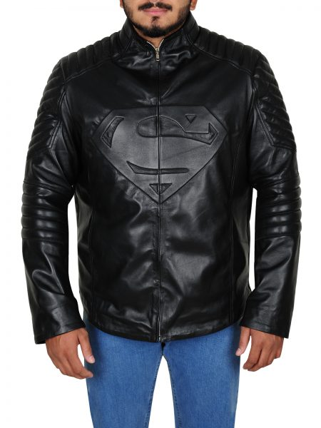 Superman Gray logo Black Jacket