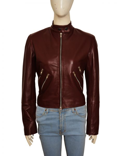 Cobie Smulders Jack Reacher leather Jacket