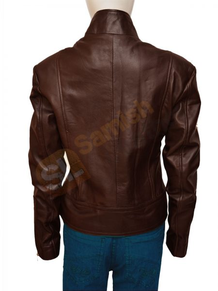 Buy Gorgeous Jennifer Morrison Once Upon A Time Brown Leather Jacket