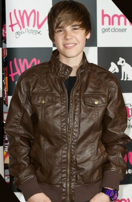 Justin Bieber Brown Bomber Jacket