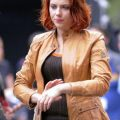 Scarlett Johansson Set Of Avengers Leather Jacket