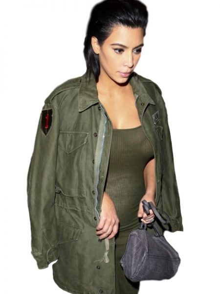 Kim Kardashian Army Green Jacket