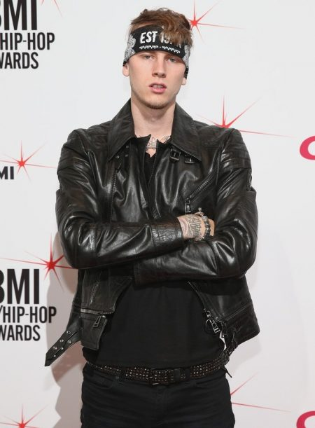 Machine Gun Kelly Roadies Wesley Black leather Jacket