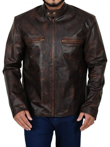 Tom Cruise Brown Distressed Leather Jacket