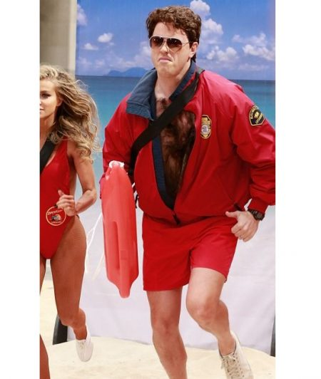 Television Anchor Willie Geist Baywatch Red Jacket