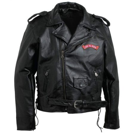 Rock Eagle Flag Motorcycle Leather Jacket