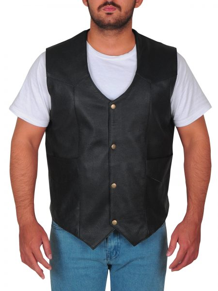 Dwayne Johnson The Rock Fast and Furious 8 Hobbs leather Vest