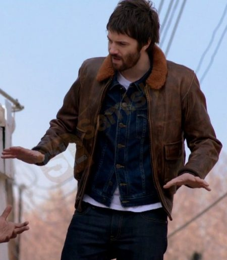 Jim Sturgess Feed the Beast Dion Patras Jeather Jacket