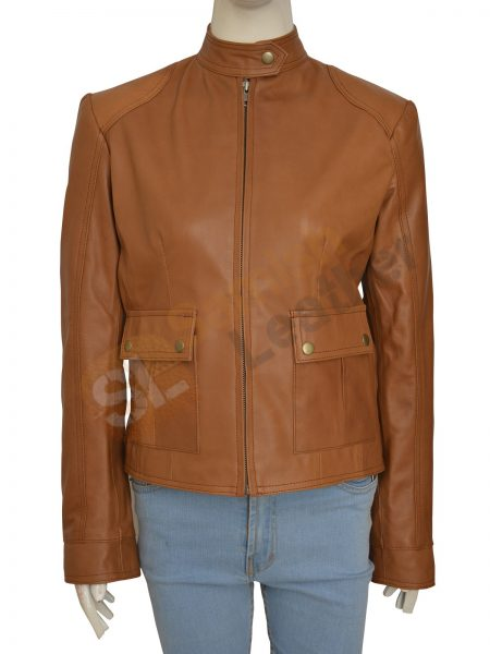 Buy Scarlett Johansson Set Of Avengers Leather Brown Jacket