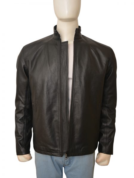 Jack Reacher Premiere Tom Cruise Black Leather Jacket