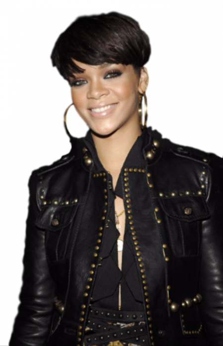 Rihanna Black Leather Jacket