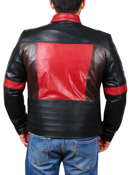 Star Patch leather Jacket