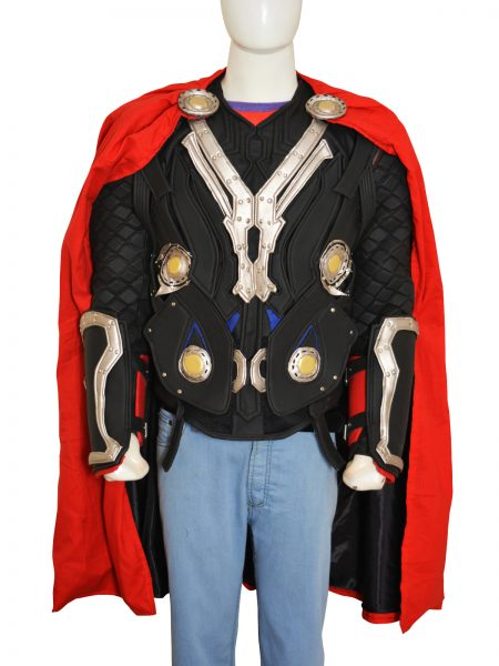 2011 Movie Thor Chris Hemsworth Detachable Sleeves Leather Costume