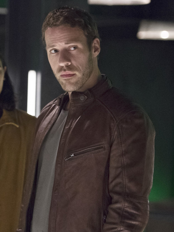 2014 Series The Flash Carter Hall Brown Leather Jacket (1)