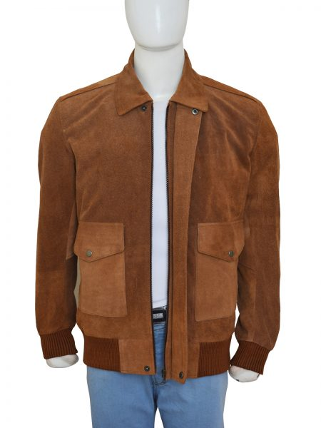 American Ultra Mike Howell Brown Suede Leather Jacket