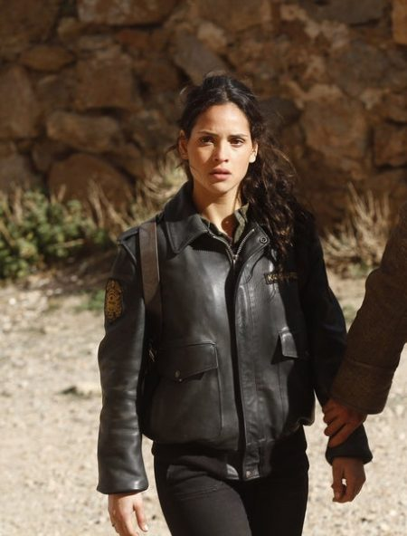 2016 TV Series Emerald City Season 1 Adria Arjona leather Jacket