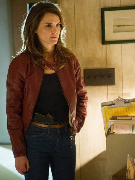Keri Russell The Americans Brown Jacket