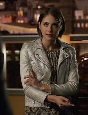 Willa Holland Arrow Silver Jacket