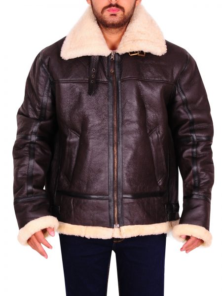 B-3 SHEEPSKIN FUR SHEARLING JACKET
