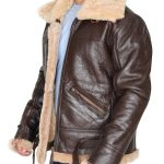 Men's RAF B3 Shearling Sheepskin Bomber Leather Jacket